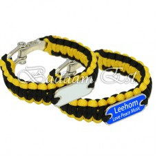Black/Yellow Black Paracord Bracelet