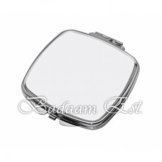 Silver Square curve Makeup Mirror