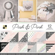 12X12 inch Posh and Pink