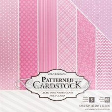 12X12 inch - Light Pink cardstock