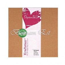Kraft Cardstock, 280 gm, 20 sheets, 20 cm