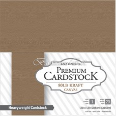 Kraft Cardstock, 220 gm, 20 sheets, 30 cm