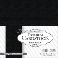 Black Cardstock, 220 gm, 20 sheets, 30 cm