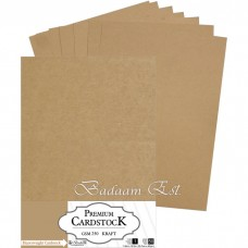 Kraft Cardstock, 250 gm, 50 sheets, A3