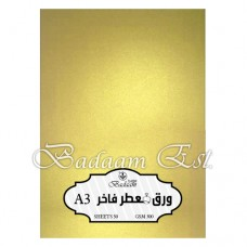 Perfumed Paper Gold 300 gm, 50 sheets, A3