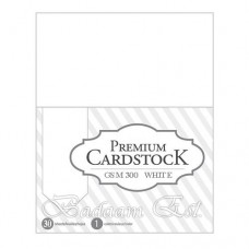 White Cardstock, 300 gm, 30 sheets, A4