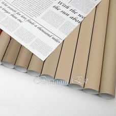 Newspaper double sided wrapping paper Beige/White
