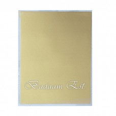 Metallic Gold Food papers 12 sheets