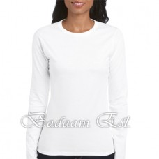 Soft style Ladies' Long Sleeve White