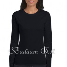 Soft style Ladies' Long Sleeve Black