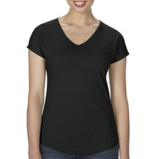 Women's Tri-Blend V-Neck Tee Black