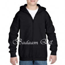 Youth Full Zip Hooded Sweatshirt Black