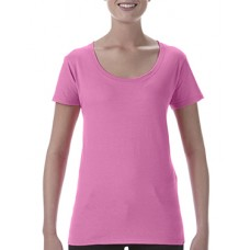 Softstyle Ladies Deep Scoop T-Shirt Azalea