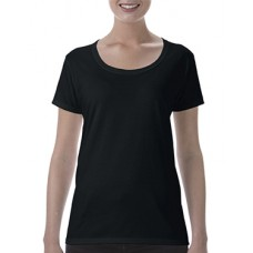 Softstyle Ladies Deep Scoop T-Shirt Black