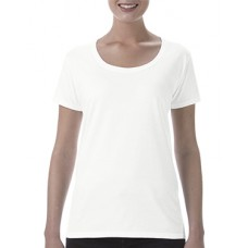 Softstyle Ladies Deep Scoop T-Shirt White 1 + 1 Free