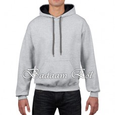 Adult Contrast Hooded Sweatshirt Grey/Black