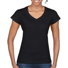 Softstyle Ladies V-Neck T-Shirt Black