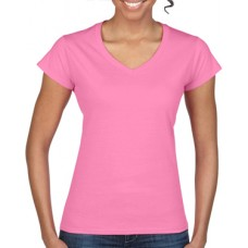 Softstyle Ladies V-Neck T-Shirt Azalea