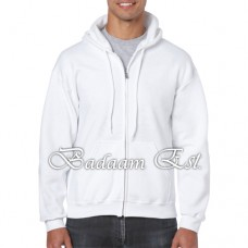 Adult Full Zip Hooded Sweatshirt White