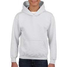 Youth Hooded Sweatshirt white