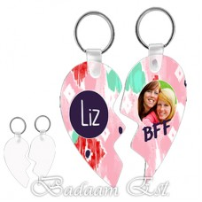 Two Hearts 2 Sided key chain