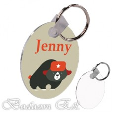 Round 2 Sided key chain