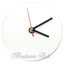 Glass Clock Dia. 18 cm