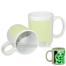 White luminous mug