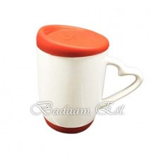 White mug with Red Silicon cover
