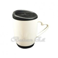 White mug with Black Silicon cover