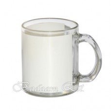 Glass mug with White Patch
