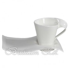 Coffee mugs with plate