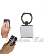 Silver Square Mobile Ring