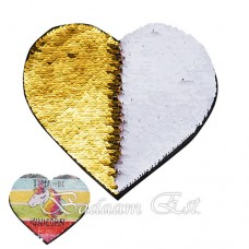 Gold Heart Sequins Adhesive