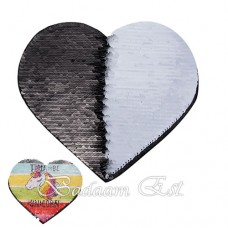 Black Heart Sequins Adhesive