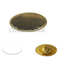 Pin Badge Gold oval