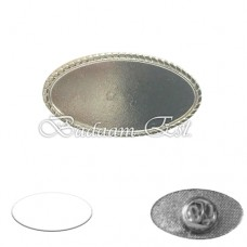 Pin Badge Silver oval