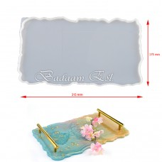 Silicon rectangle tray with Handel 17.5 X 31.5 cm Model 1720