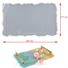 Silicon rectangle tray with Handel 36X22 cm Model 1721