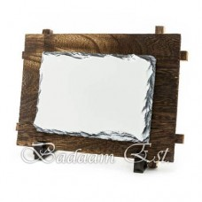 Rectangle Rock with Wood